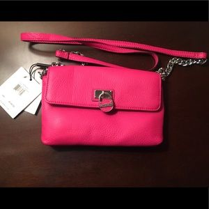 Calvin Klein Passion Pink Leather Crossbody Bag